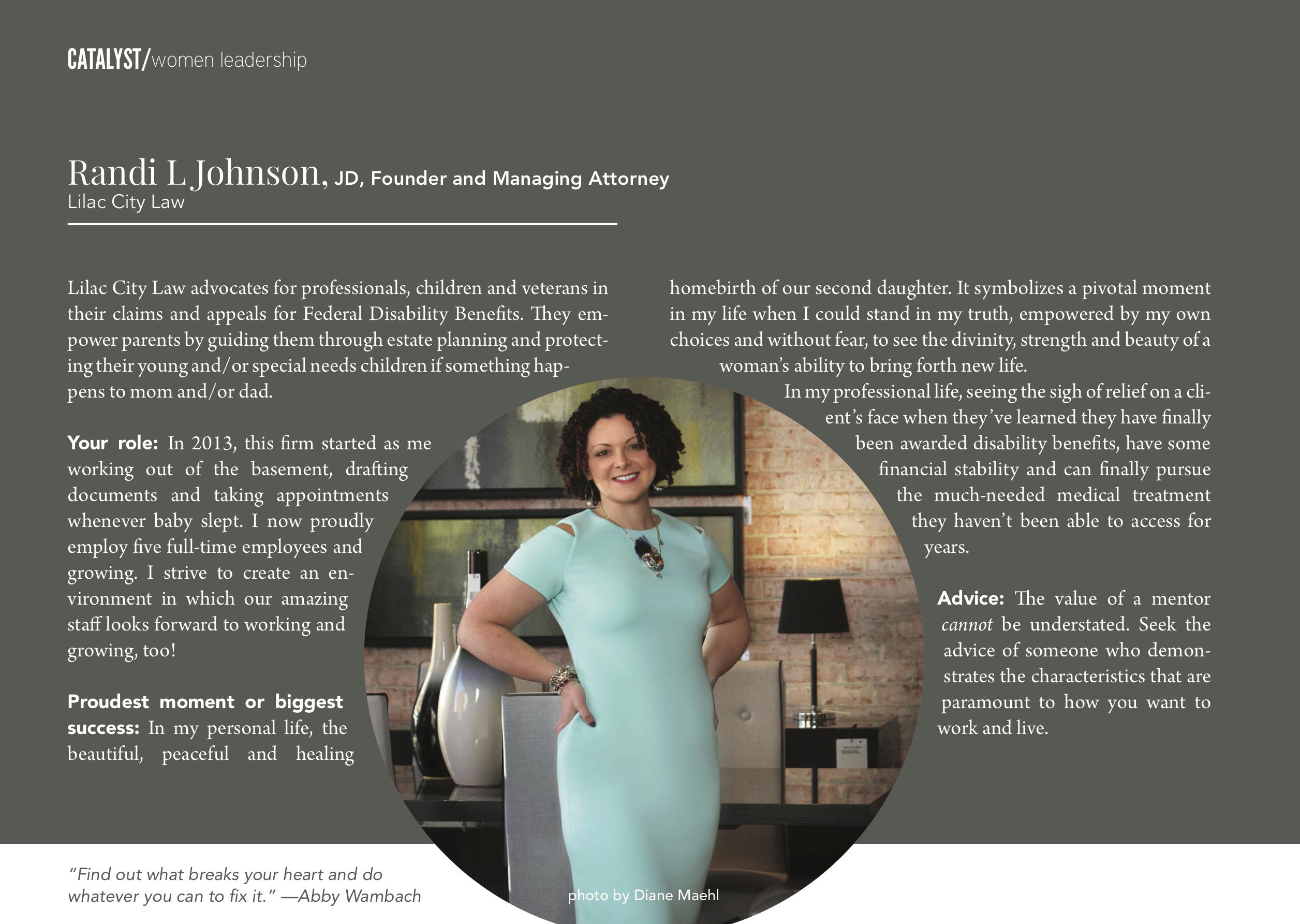 Randi L Johnson Award