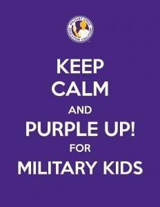 Military Kids Purple Up Day