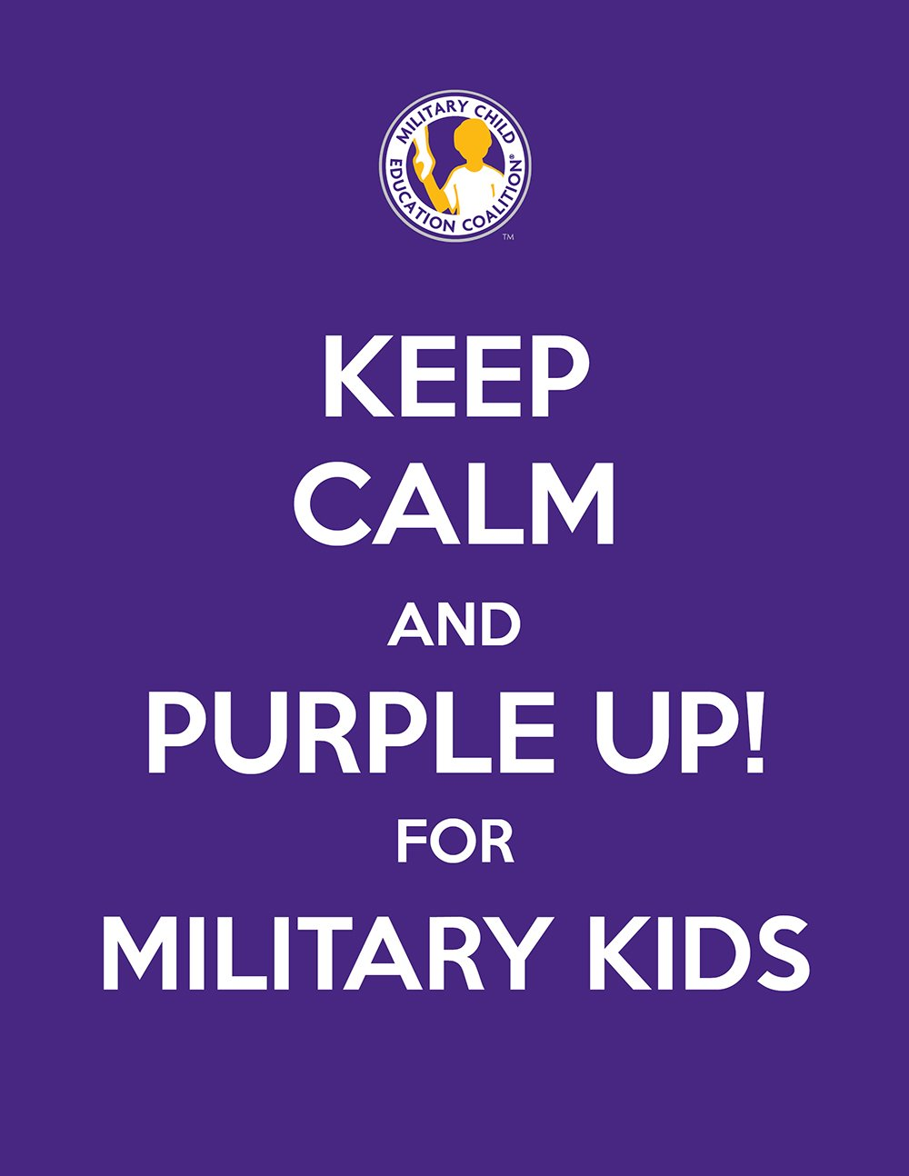 Military Kids Purple Up Day