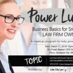 Power Lunch: Business Basics for Small & Solo Law Firm Owners