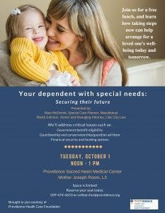 Your Dependent With Special Needs: Securing Their Future